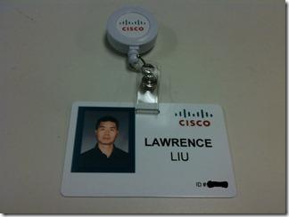 Cisco ID badge - sanitized